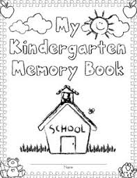memory books yearbooks kindergarten memory book 32 pages blackline to create a special