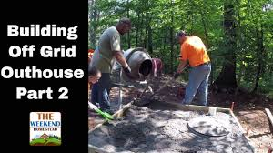 diy how to install an outhouse part 2 outhouse concrete floor