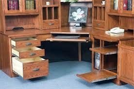 Oak Corner Computer Desk With Hutch Mission Computer Desk U2013 Modelthreeenergy Com