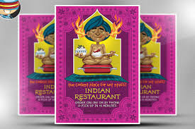 indian menu template indian restaurant flyer template flyer templates creative market