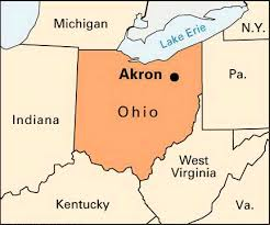 of akron map akron location students britannica homework help