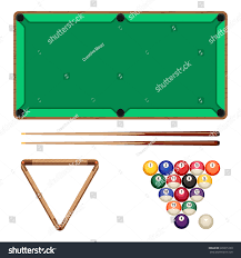 Snooker Pool Gaming Elements Isolated Stock Vector