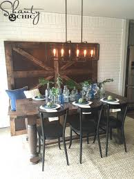 Dining Table With Bench With Back Diy High Back Bench Shanty 2 Chic