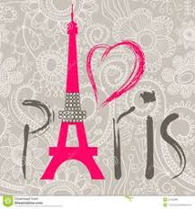 Paris Decor Paris With Love Paris Typography Wall Decor Vintage Pink Post Card