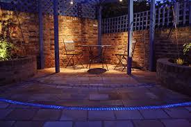 Patio Floor Lighting Courtyard Garden Contemporary Patio By Caro