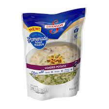 swanson broth stock loaded potato soup mix