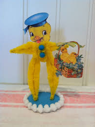 chenille easter vintage style bump chenille easter figure by artzeeshell on