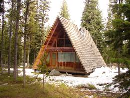 building an a frame cabin wooden a frame cabin the the forest at anthony lake a frame