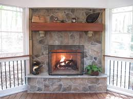 stone fireplaces renovating our fireplace with stone veneers a