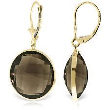smoky quartz earrings smoky quartz drop earrings 34 0ctw in 14k gold 5240y qp jewellers