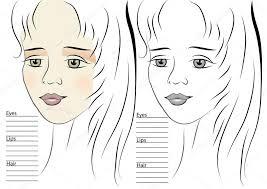 portrait of makeup sketch template u2014 stock vector arkela