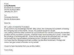 how to write a letter of intent for job promotion shishita world com