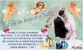 41 ans de mariage claude robert pour vos 41 ans de mariage picmix