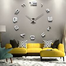 clocks large wall clock decor decorating with large clocks clock
