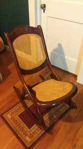Greenwood Rocking Chair Brian Boggs Antique Wooden Folding Rocking Chair Carved Rose Design Home