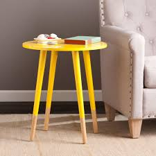 modern southern table southern enterprises otsego yellow end table hd889443 the home depot
