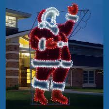 Outdoor Garland With Lights by Garland Waving Santa C7 Led Light Display 17 Ft H