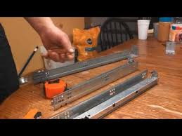 Top  Best Installing Drawer Slides Ideas On Pinterest Dresser - Kitchen cabinet drawer rails