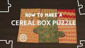 easy cereal box puzzle youtube