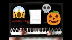 halloween theme song piano cover youtube