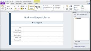 walkthrough create an infopath form template to submit data to a