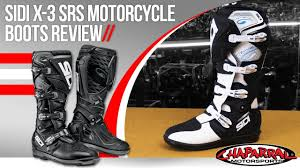 sidi motocross boots sidi x 3 srs motorcycle boots review youtube