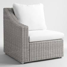 Gray Armchair Gray All Weather Wicker Veracruz Sectional Right Armchair World