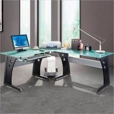 Glass L Shaped Computer Desk by Modern L Shaped Desks Foter