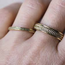 fields wedding rings gold braided wedding rings fields of wheat rings metalicious