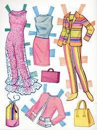203 barbie mod paper dolls images barbie