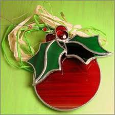 tree fused glass ornaments translucent green