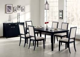 furniture charming black wood dining table and chairs ikea room