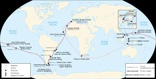 Cape Of Good Hope On World Map by Magellan U0027s Expedition Sutori