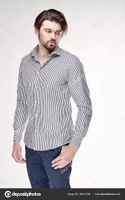 dark hair with grey models attractive young man model with beard and dark hair posing in