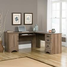Sauder L Shaped Desk With Hutch Harbor View Corner Computer Desk 417586 Sauder