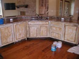 How To Distress White Kitchen Cabinets Cabinets U0026 Drawer Distressed Kitchen Cabinets Pertaining To