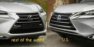 lexus truck nx ever wondered why the us lexus nx has a different bumper