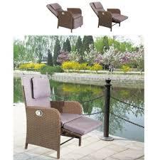 trendy multi functional outdoor garden rattan wicker recliners