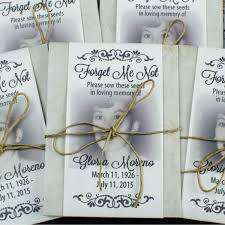 forget me not seed packets classic memorial forget me not seed packets with photograph