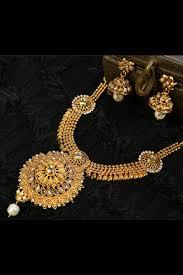 gold costume necklace images Golden costume jewellery set adi34329 jpg