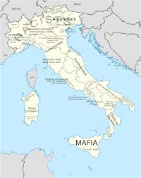 Campania Italy Map by A Stereotype Map Of Italy Europe