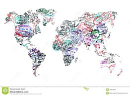 Images Of The World Map by World Map Created With Passport Stamps Stock Photo Image 46679822