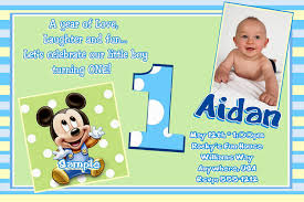 Example Of Baptismal Invitation Card 1st Birthday Invitation Themes For Boys Decorating Of Party
