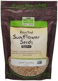 sunflower seeds roasted u0026 unsalted now foods