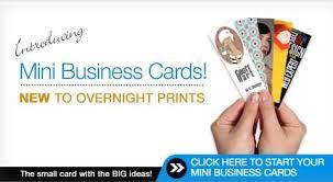 mini business cards overnightprints