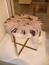Petrified Wood Bench Coffee Table Amazing Petrified Wood Stump Table Large Round