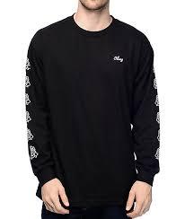 obey mira rosa 2 black sleeve t shirt zumiez