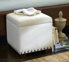 Upholstered Storage Ottoman Raleigh Upholstered Storage Cube With Nailhead Hodedah Cube