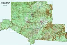 Pennsylvania On The Map by Elk County Pennsylvania Township Maps