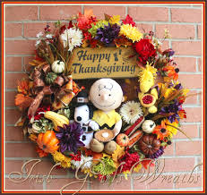 Halloween Mesh Wreaths by Thanksgiving Charlie Brown Peanuts Wreath Made By Irish U0027s